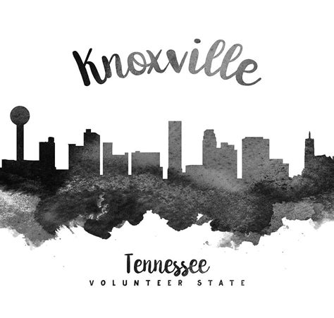 knoxville tennessee skyline 18 painting by aged pixel