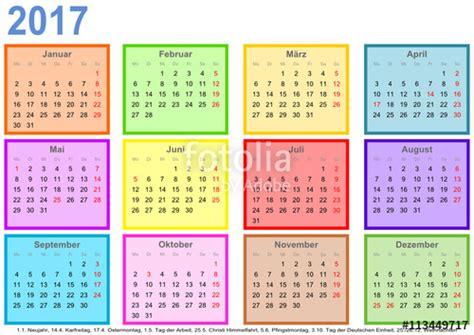 Kalender 2017 Monat Quot Kalender 2017 Jeder Monat In Einem Andersfarbigen