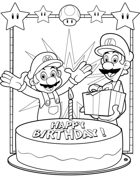 birthday coloring pages free printable happy birthday coloring pages for