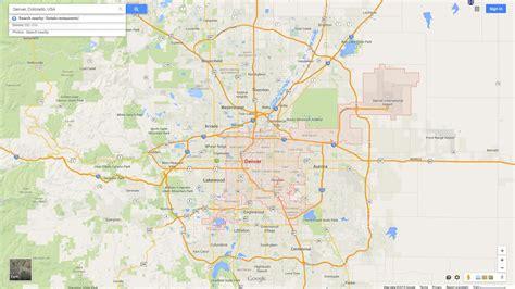 denver in usa map denver colorado map