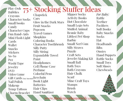 ideas for stocking stuffers 75 stocking stuffer ideas for kids the denver housewife