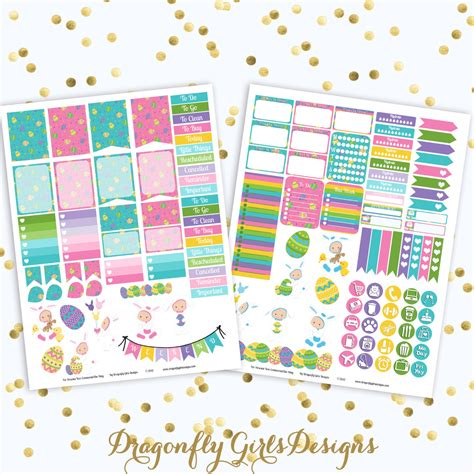 free printable easter planner stickers 50 off baby s first easter printable planner stickers