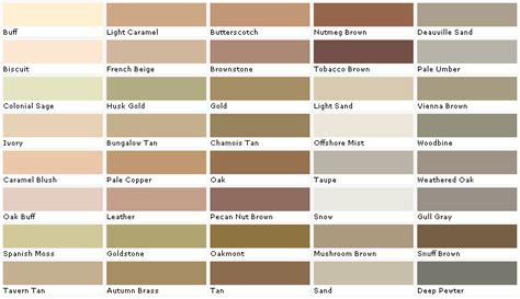 paint colors chart folat