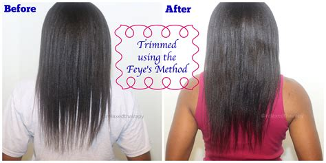 how to trim relaxed hair how i self trim relaxed hair
