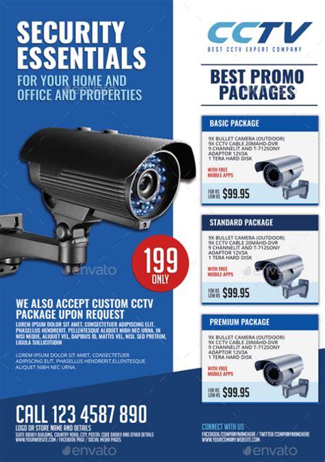 Surveillance Cctv System Flyer By Artchery Graphicriver Cctv Flyer Template