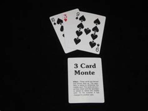 3 Card Monte three card monte with blank key card bulk 100 d robbins co