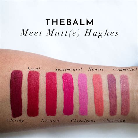 The Balm Meet Matt E Hughes Comitted Mini 1 2 Ml Kecantikan Diskon thebalm meet matt e hughes liquid lipstick swatches review