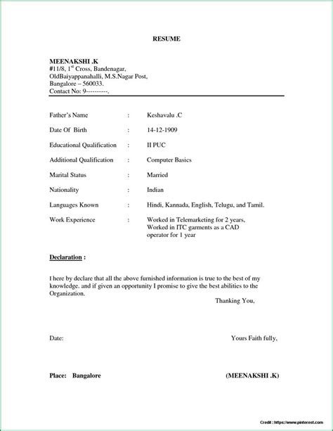 Resume Format In Word by Simple Resume Format In Word Document Resume Resume