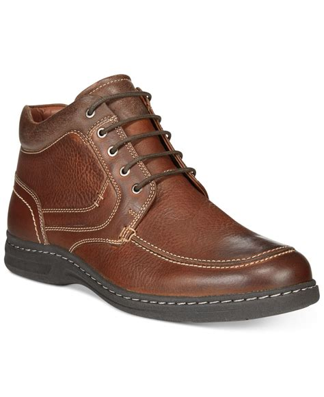 johnston and murphy mens boots johnston murphy mccarter moc toe boots in brown for
