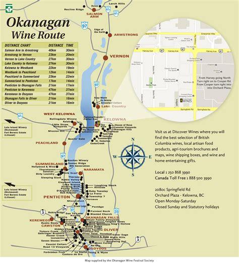 printable map kelowna okanagan wine map