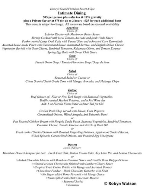 grand floridian room service menu an intimate dining experience at disney s grand floridian resort and spa