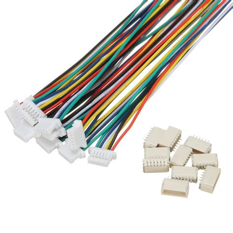 6 Pin Cable Connector by Excellway 174 20pcs Mini Micro Jst 1 0mm Sh 6 Pin Connector