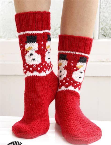 Elsa Sock Snowman носки спицами со снеговиками