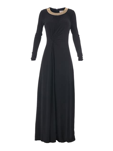 Gamis Jersey Maxi Dress embellished jersey maxi dress by michael kors maxi