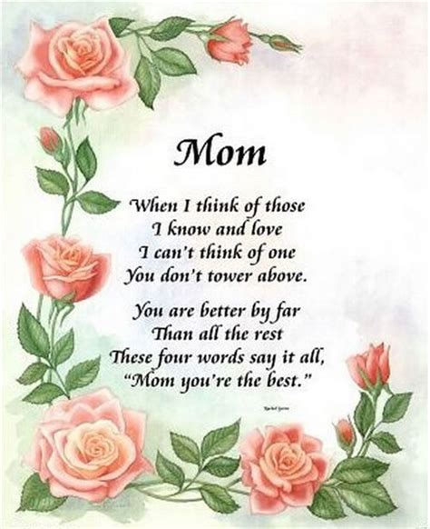 mothers quotes poems about mothers moms poems sayings