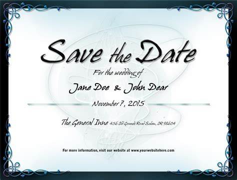 wedding save the date template 1 by mikallica on deviantart