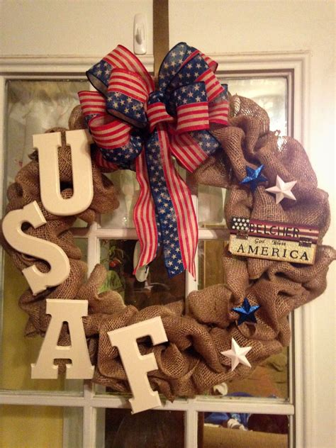 awesome  front door wreath   usaf airman