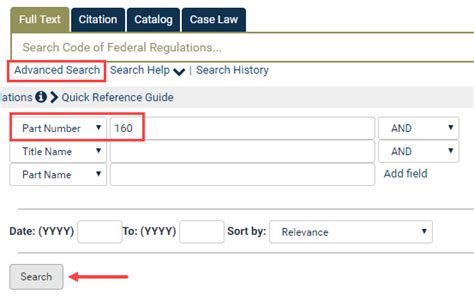 Find By Name Search By Part Number Or Part Name In The Cfr Heinonline