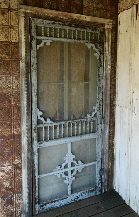 Vintage Screen Door by Shabby Screen Door With Gingerbread Trim Doors I Want To