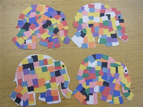Elmer The Patchwork Elephant Story - ms m s kg class elmer the elephant mlk