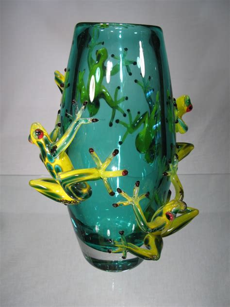 murano vasi verre murano vase murano vase grenouilles