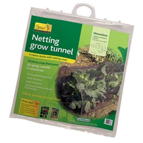 Garden Netting Accessories Grow Tunnel Cloche Netting Kit 3m The Garden Factory