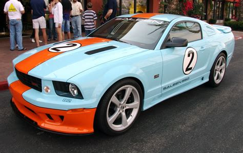 gulf racing mustang saleen gulf mustangs