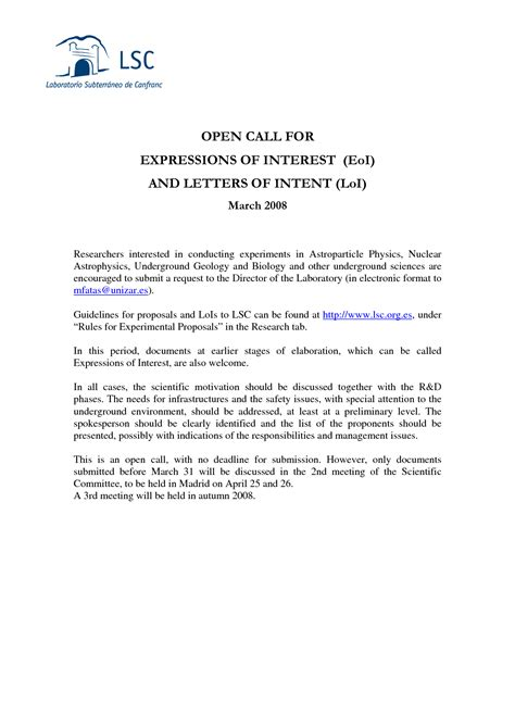 best photos of expressions of interest exles expression of interest letter sle