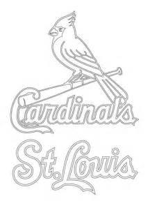 St Louis Cardinals Logo Coloring Page Supercoloring Com St Louis Cardinals Coloring Pages
