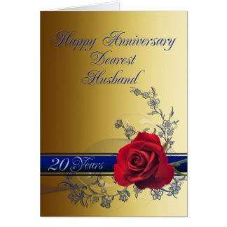 20th anniversary cards zazzle