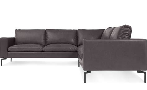 Small Leather Sectional Sofas New Standard Small Sectional Leather Sofa Hivemodern
