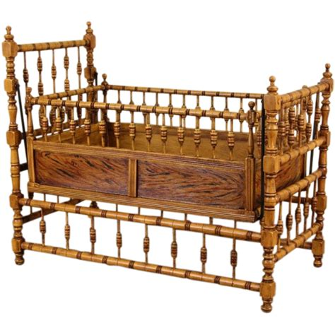 baby swinging cradle victorian 1890 antique swinging rocking baby cradle from