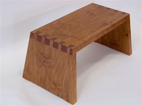 Wooden Step Stool by Make A Beautiful Dovetail Wooden Step Stool