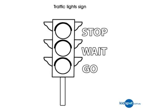 traffic lights kids activities colouing pages