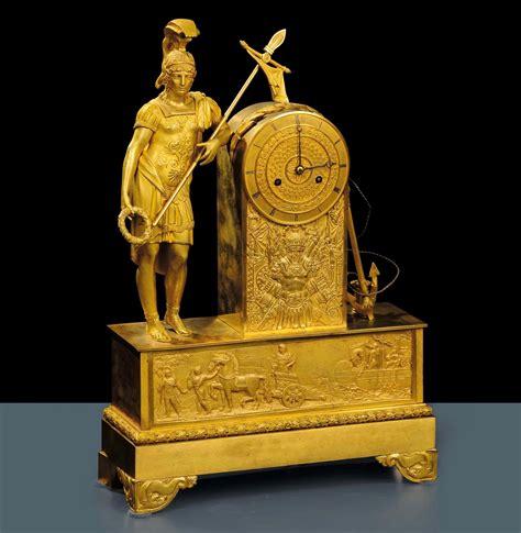 orologi da tavolo antichi orologio da tavolo carlo x in bronzo dorato francia xix