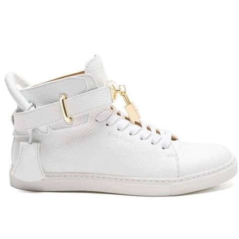 buscemi 100mm high top sneaker white athletic shoes