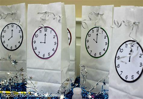 printable new years clock new year s eve countdown goodie bags hoosier homemade