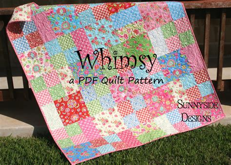 Moda Layer Cake Quilt Patterns by Layer Cake Quilt Pattern Whimsy Moda Baby Quilt And Throw