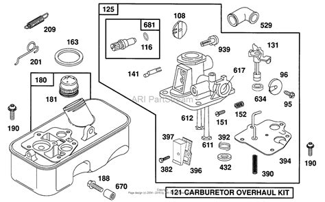 briggs and stratton carburetor diagram briggs and stratton 093902 3100 01 parts diagram for