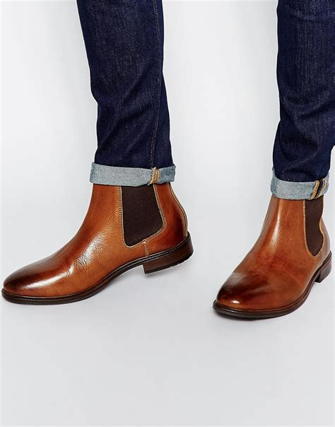 Mens Handmade Boots - new handmade mens brown chelsea real leather boots