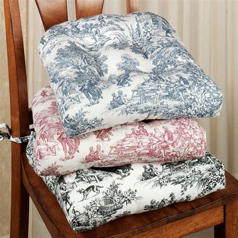 Chair Cusions park toile chair cushion set of 2