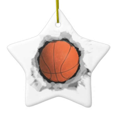 personalized basketball gift christmas tree ornaments zazzle