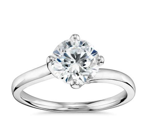 truly zac posen east west solitaire engagement ring in