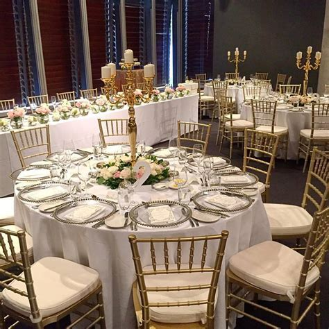 Gold Tiffany Chair   Harbourside Decorators   Wedding