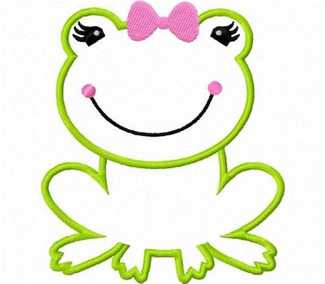 embroidery design templates froggy girl frog applique machine embroidery design by