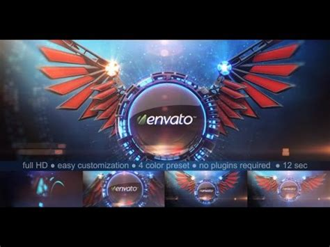 3d logo after effects template 3d wings logo reveal after effects template