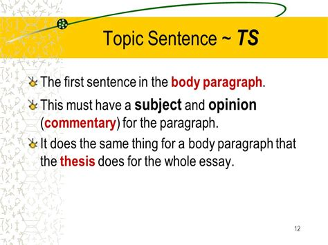 Opening Essay Sentences by Opening Essay Sentence
