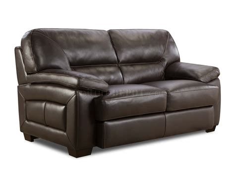 Truffle Brown Top Grain Leather Modern Sofa Loveseat Set Top Grain Leather Sofa