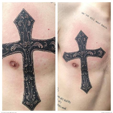 small cross tattoo on chest 15 25 unique small chest tattoos cross tattoos on