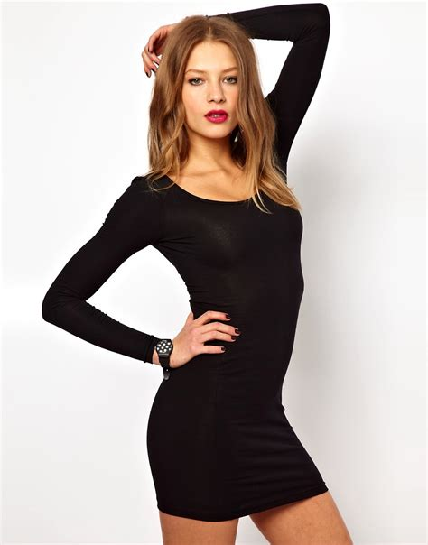 Fitted Mini Dress With Cut On Breastry7270 Import used american apparel sleeve mini dress size uk 12